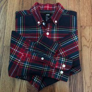 H&M MEN Plaid Button Down Long Sleeve Shirt